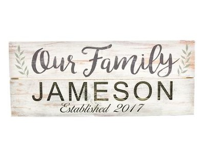 Personalized, Wooden Box Pallet Sign, Our Family, With Vines  -