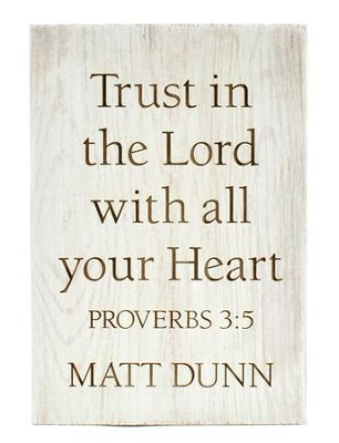 Personalized, Wooden Barnhouse Block, Trust in the Lord Small, White  -