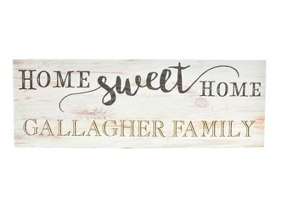 Personalized, Plank Sign, Home Sweet Home, Pine   -