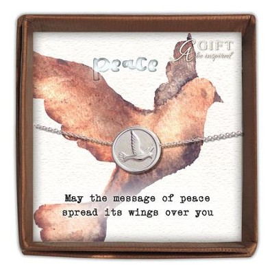 May the Message of Peace Spread It's Wings, Dove Pendant  -