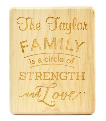 Personalized, Maple Plaque, Family, Large   -