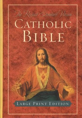 Revised Standard Version Catholic Bible, Large Print Edition, Hardcover  -