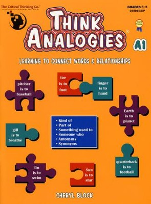 Think Analogies, Level A Book 1   -     By: Cheryl Block