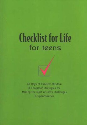 Checklist For Life for Teens   -