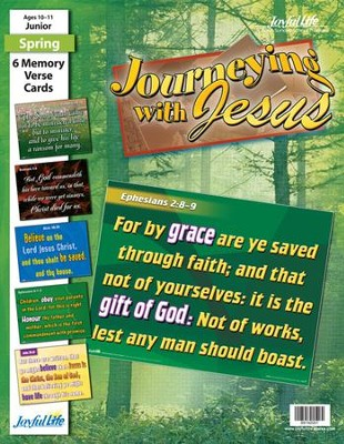 Journeying with Jesus Junior (Grades 5-6) Memory Verse Visuals  -