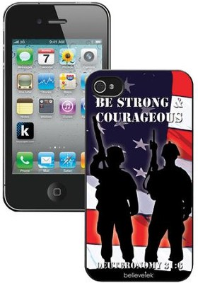 Be Strong and Courageous Soldiers iPhone 4 Case  -