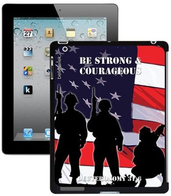 Be Strong and Courageous Soldier iPad Case  -