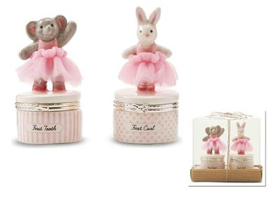 Tutu Elephant & Bunny 1st Tooth & Curl Set  -