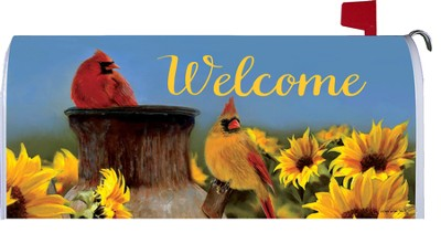 Cardinal Sunflowers, Mailbox Cover  -