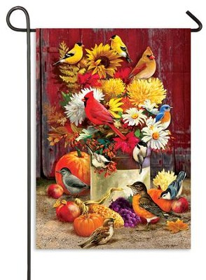 Autumn Songbirds, Small Flag  -