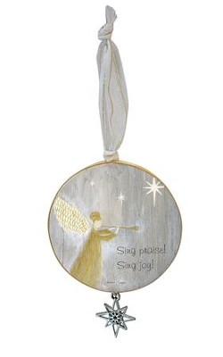 Sing Praise! Sing Joy! Ornament with Star Charm  -