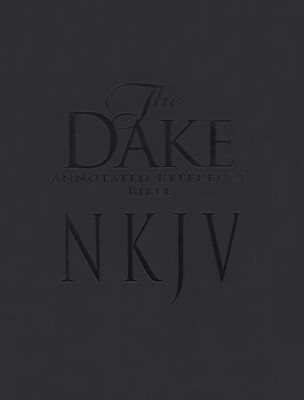 NKJV Dake Bible Imitation Leather Black   -