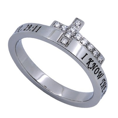 I Know Just The Cross Women's Ring, Size 5 (Jeremiah 29:11)  -
