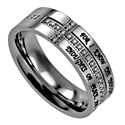 I Know, Crescent Women's Ring, Size 5 (Jeremiah 29:11)  -
