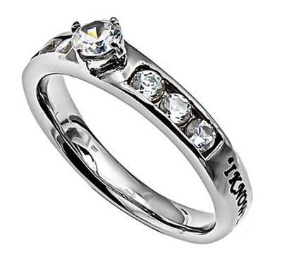 I Know, Princess Solitaire Ring, Size 6   -