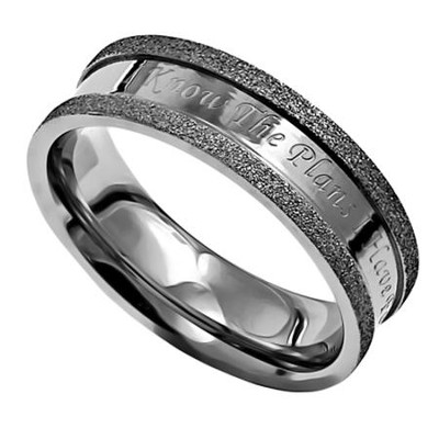 I Know, Silver Champagne Women's Ring, Size 7 (Jeremiah 29:11)  -