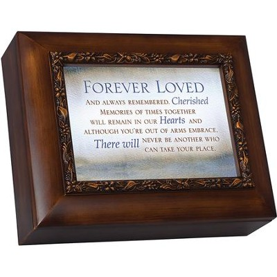 Wood Grain Urn, Forever Loved And Always Remembered  -