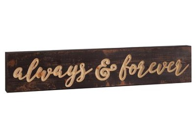 Always and Forever, Block Plaque  -