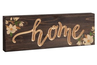 Home, Block Plaque  -