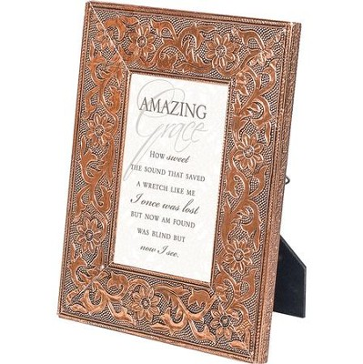 Copper Metal Frame, Amazing Grace, 4 x 6  -