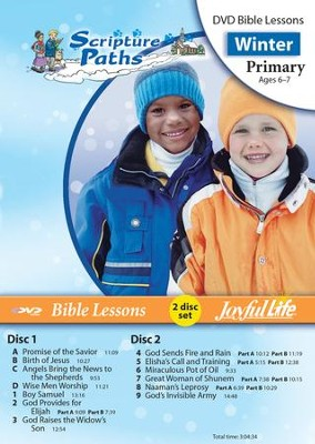 Scripture Paths Primary (Grades 1-2) Bible Lesson DVD   -