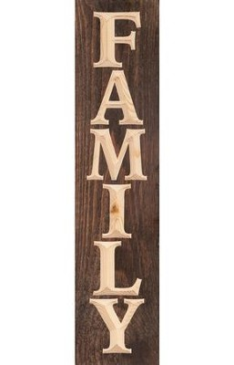 Family, Pine Plank Sign  -