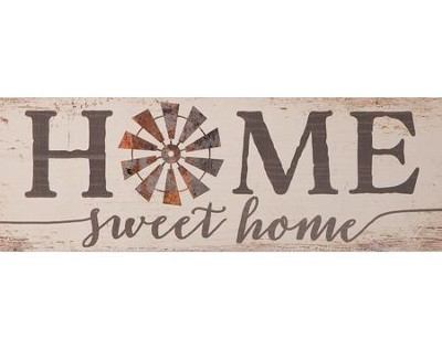 Home Sweet Home, Pine Plank Sign  -