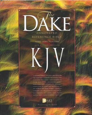 KJV Dake Annotated Reference Bible (large note edition) -  soft leather-look, black     -     By: Finis J. Dake