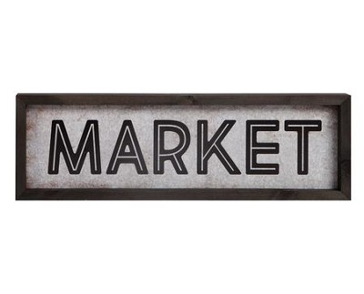 Market, Tin and Timber Sign  -