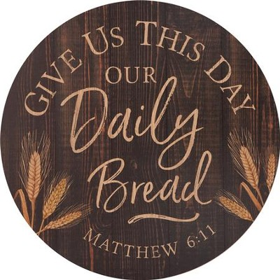 Give Us This Day Our Daily Bread, Barrel Top Art  -