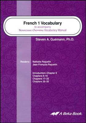 Abeka Nouveaux Chemins French Year 1 Vocabulary Audio CDs  (set of 2)  -