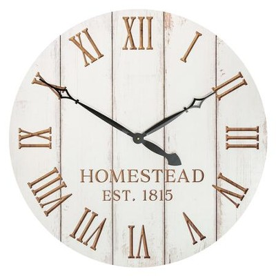 Oversized Clock; Homestead Est 1815   -
