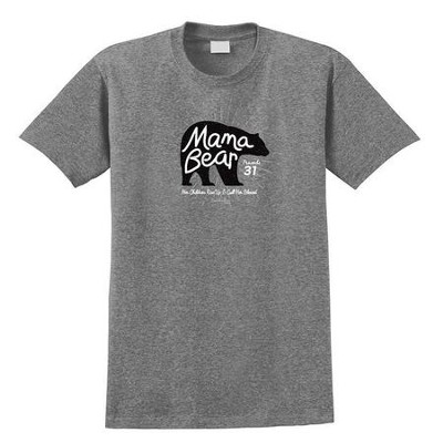 Mama Bear Shirt, Graphite, X-Large  -