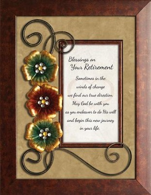 Blessings On Your Retirement Framed Tabletop Art  -     By: Lea Metts