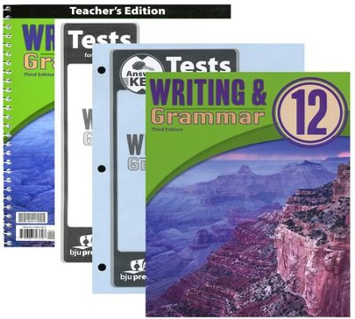 BJU Press Writing & Grammar Grade 12 Homeschool Kit (3rd Edition)  -