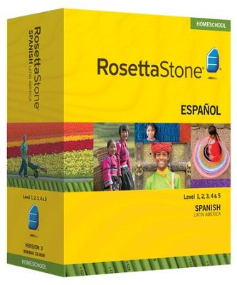 Rosetta Stone Spanish (Latin American) Level 1-5 Set with Audio Companion Homeschool Edition, Version 3  -