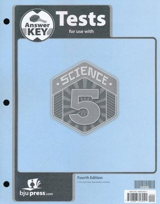 Science 5 Tests Answer Key (4th Edition)   -