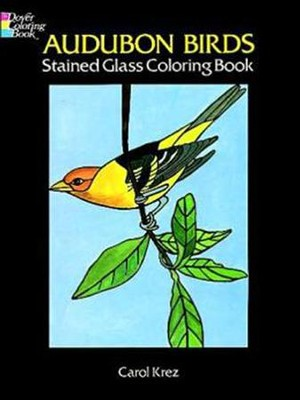 Audubon Birds Stained Glass Coloring Book  -     By: Carol Krez
