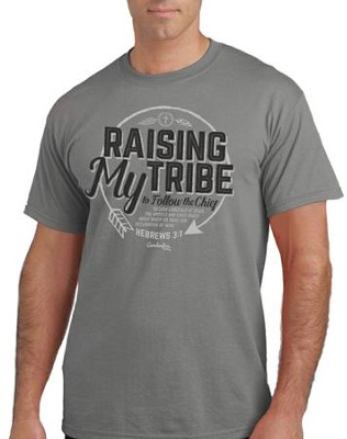 Raising My Tribe Shirt, Graphite, Large  -