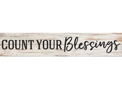 Count Your Blessings, Pine Pallet Plaque  -