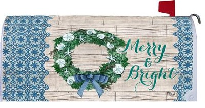 Merry and Bright, Mailbox Cover  -