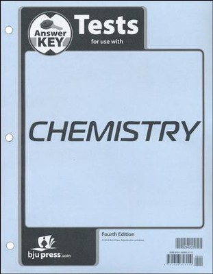 Chemistry Grade 11 Tests Answer Key (4th Edition)   -