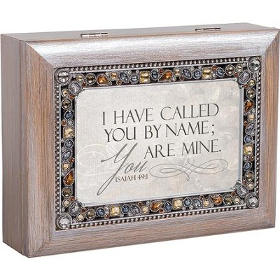 Jeweled Pewter Music Box, I Have Called You By Name, Isaiah 49:1  -