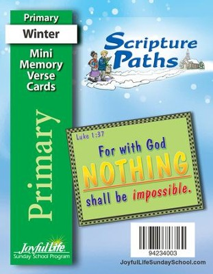 Scripture Paths Primary (Grades 1-2) Mini Memory Verse Cards  -