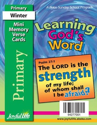 Learning God's Word Primary (Grades 1-2) Mini Memory Verse Cards  -