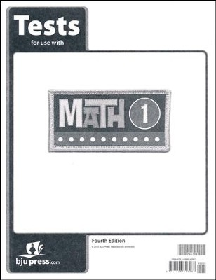 Math 1 Tests (4th Edition)   -