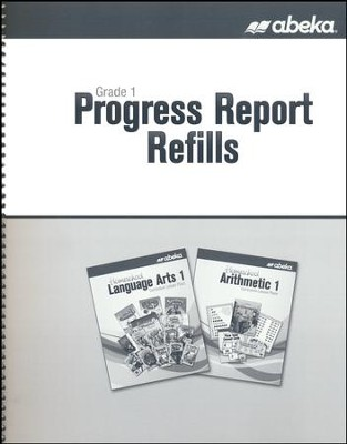 Abeka Grade 1 Homeschool Progress Report Refills   -