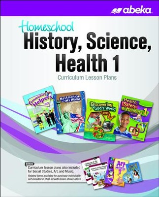 Abeka Homeschool History, Science, & Health Grade 1  Curriculum Lesson Plans   -
