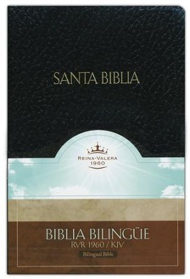 Biblia Bilingue RVR 1960-KJV, Piel Imit. Negro  (RVR 1960-KJV Bilingual Bible, Imit. Leather Black)  -