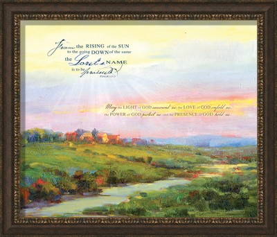 May the Light Of God Surround Us Framed Art  -